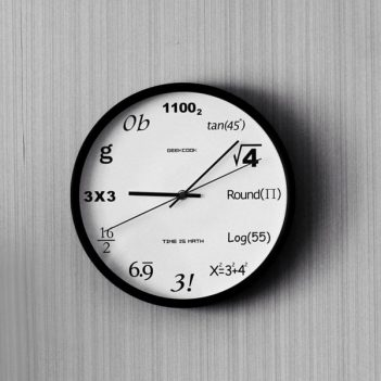black-mathematical-clock